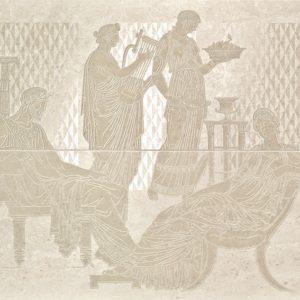 Керамическая плитка Comp. Raffaello Cream Панно (из 2-х пл.) 48х59
