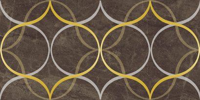 Керамическая плитка Crystal Resonanse Декор коричневый 30х60