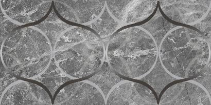 Керамическая плитка Crystal Resonanse Декор серый 30х60