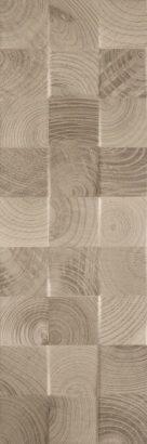 Керамическая плитка Daikiri Brown Wood Kostki Struktura Плитка настенная 25х75
