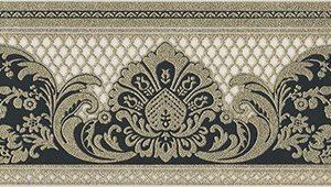 Керамическая плитка Даниэли Бордюр черный обрезной HGD B103 11109R  30х14