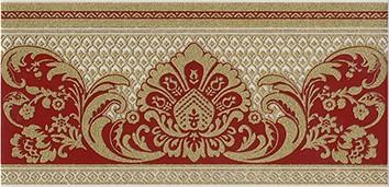Керамическая плитка Даниэли Бордюр красный обрезной HGD C103 11109R 30х14
