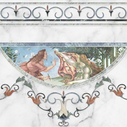 Керамическая плитка Dec Cenefa Louvre A 45х45