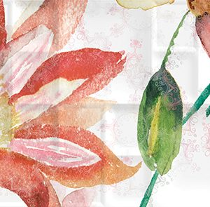 Керамическая плитка Dec Florance Panno B КПН16FloranceB 25х45