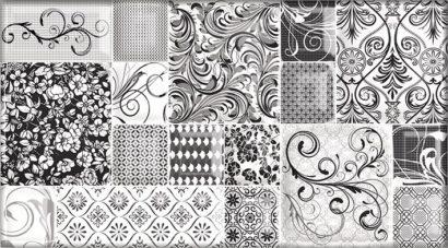 Керамическая плитка Dec Mosaic Pulsar Декор КВС16Pulsar 25х45