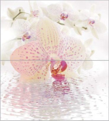 Керамическая плитка Dec Orchid Panno (панно из 2-х шт) КПН16Orchid 50х45