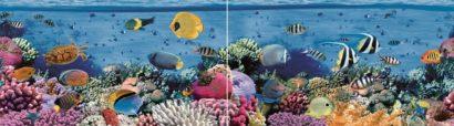 Керамическая плитка Dec Reef Panno (панно из 2-х шт) КПН16Reef 25х90