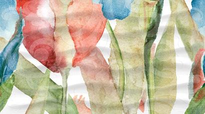 Керамическая плитка Dec Tulip Panno C КПН16TulipC 25х45