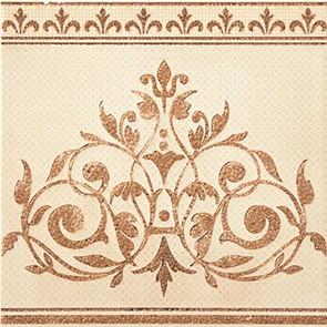 Керамическая плитка Dec Vanity Crema Декор 25х25