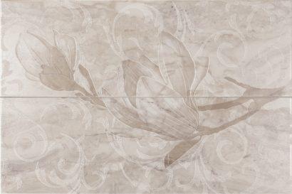 Керамическая плитка Decor Ninive Perla Панно (из 2 пл) 50х75