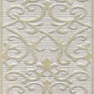 Керамическая плитка Deja Vu Gold White Декор Damask (K941991) 30x60