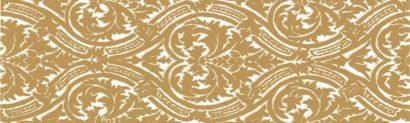 Керамическая плитка Delicate Бордюр Gold listwa Arabeska 15x50