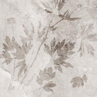 Керамическая плитка Денвер 1Д Керамогранит светло-серый декор 40х40