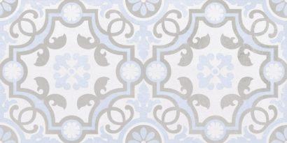 Керамическая плитка Depo Плитка настенная узор голубой 34017 25х50