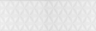 Керамическая плитка Диагональ белый структура обрезной 12119R 25х75
