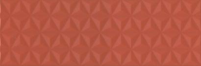 Керамическая плитка Диагональ красный структура обрезной 12120R 25х75