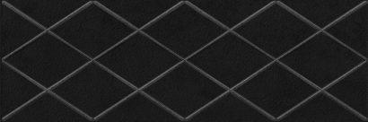 Керамическая плитка Eridan Attimo Декор чёрный 17-05-04-1172-0 20х60