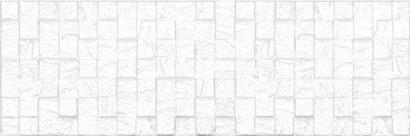 Керамическая плитка Eridan Плитка настенная белый мозаика 17-30-01-1172 20х60