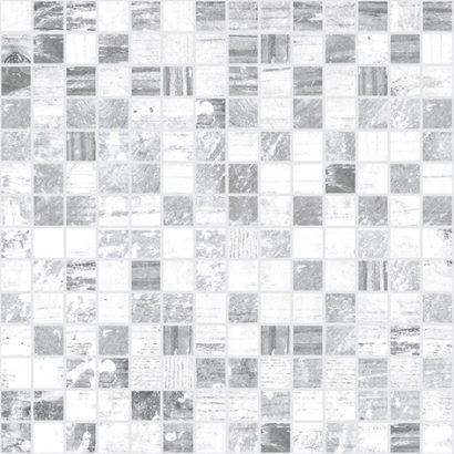 Керамическая плитка Extra Мозаика серый+белый 30х30