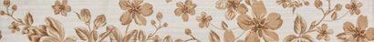 Керамическая плитка Fabric beige Бордюр 01 6