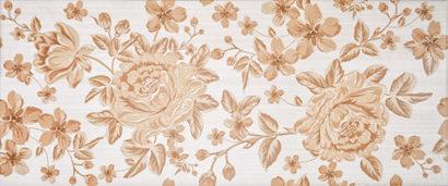 Керамическая плитка Fabric beige Декор 01 25х60