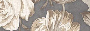 Керамическая плитка Fiori Grigio Бордюр 2 1506-0100 9х60