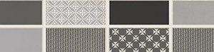Керамическая плитка Fiori Grigio Бордюр металлизированный 1506-0101 6
