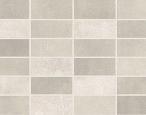 Керамическая плитка Fiori Grigio Декор мозаика светло-серая 1064-0047   1064-0102 20х60