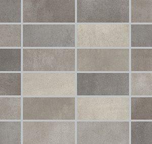 Керамическая плитка Fiori Grigio Декор мозаика темно-серая 1064-0048 1064-0103 20х60