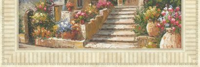 Керамическая плитка Flower Street Панно ( из 4-элем.) низ N O P Q 150x50