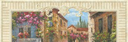 Керамическая плитка Flower Street Панно ( из 4-элем.) верх E F L M 150x50