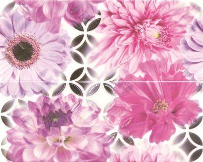 Керамическая плитка French Bistro Flower ins (O-FRB-WPE452) панно - 400x500 мм - 3 шт (комплект из 2 шт)
