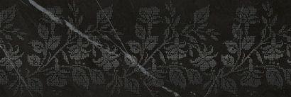 Керамическая плитка Geneva black Декор 01 25х75