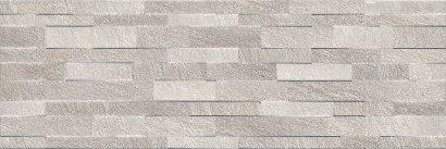 Керамическая плитка Гренель Плитка настенная серый структура обрезной 13056R 30х89
