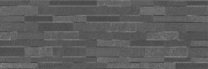 Керамическая плитка Гренель Плитка настенная серый темный структура обрезной 13055R 30х89