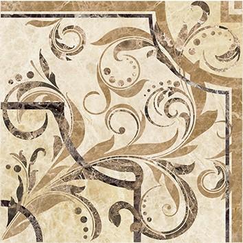 Керамическая плитка Illyria vendom marrone Вставка напольная 30х30