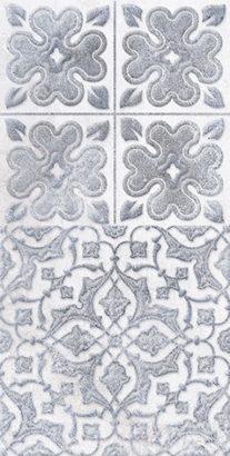 Керамическая плитка Кампанилья Декор 2 серый 1641-0094 20х40