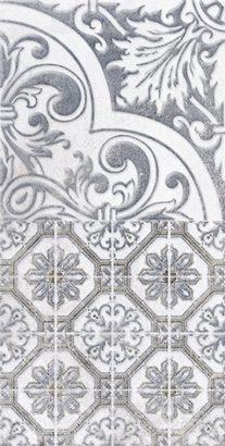 Керамическая плитка Кампанилья Декор 3 серый 1641-0095 20х40