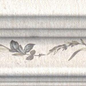 Керамическая плитка Кантри Шик Багет белый декорированнный BLB028 5х20