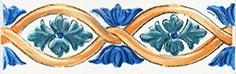Керамическая плитка Капри Бордюр майолика STG A460 5232 20х6
