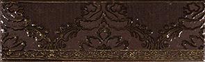 Керамическая плитка Катар бордюр коричневый 1502-0576 7