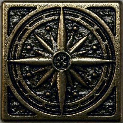 Керамическая плитка Kavarti - Compass металлическая плитка 75х75мм  16