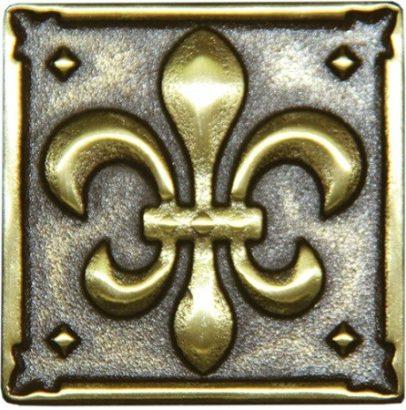 Керамическая плитка Kavarti - Lily металлическая плитка 50х50мм  52
