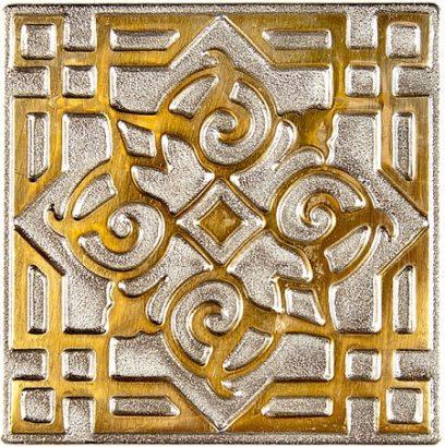 Керамическая плитка Kavarti - Orient Zircon металлическая плитка 50х50мм  52