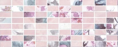 Керамическая плитка Кенсингтон Декор мозаичный розовый MM7137 20х50