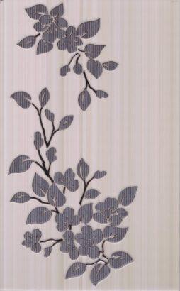 Керамическая плитка Кензо светло-корич. Декор Цветы  40х25