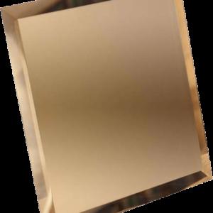 Керамическая плитка Квадратная зеркальная бронзовая плитка с фацетом 10мм КЗБ1-01 - 180х180 мм 10шт