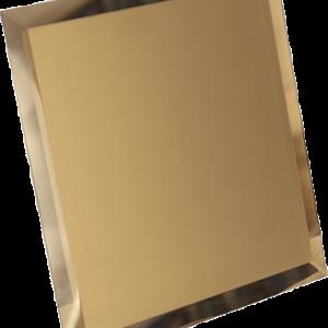 Керамическая плитка Квадратная зеркальная бронзовая плитка с фацетом 10мм КЗБ1-02 - 200х200 мм 10шт