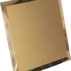 Керамическая плитка Квадратная зеркальная бронзовая плитка с фацетом 10мм КЗБ1-03 - 250х250 мм 10шт