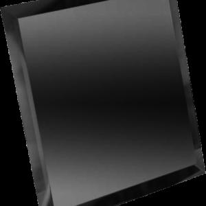 Керамическая плитка Квадратная зеркальная графитовая плитка с фацетом 10мм КЗГ1-02 - 200х200 мм 10шт